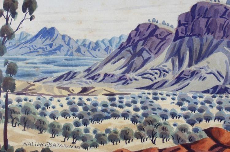 Ebatarinja Walter (1916-1968) 26x37,5cm - VENDU