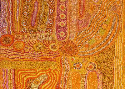 """Joan Wumali Nagomara Warlayirti """"nurududu""""2008 80x120 cm"""
