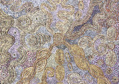 "Mona Mitakiki Shepherd ""ngayuku ngara""100x100"