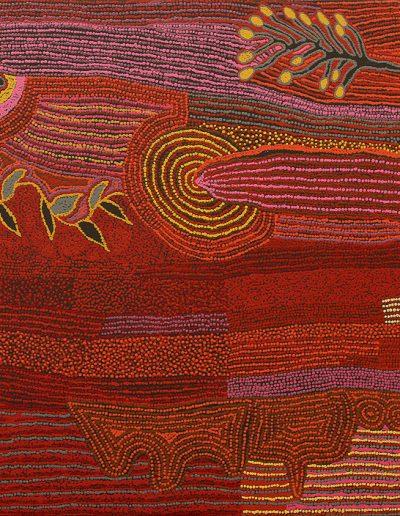 """Tjunkaya Tapaya 2010- """"Kungkarangkalpa""""170x100cm 195-10TT -"""