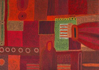 Tjungkara-Ken-(1969)Ngayuka-Ngura (My-Country) 122x152cm 2008