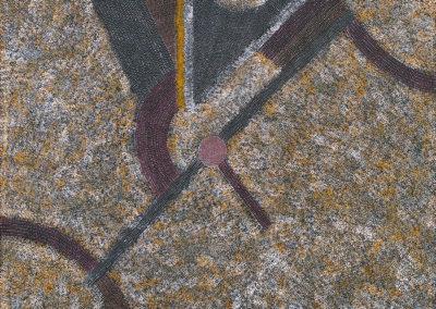 Abie Loy Kemarre 120x120 cm 'Bush Hen Dreaming'