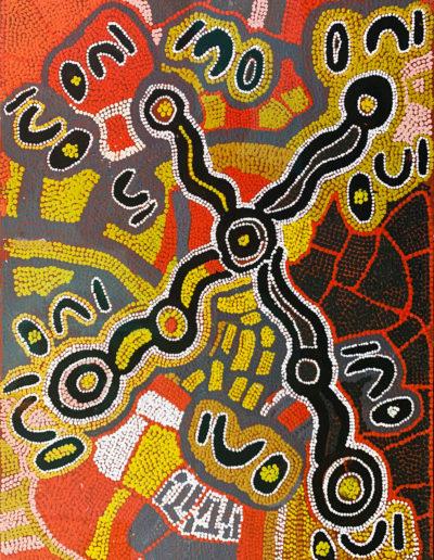 "Maggie Watson ""Homey Ants année 1989 45x60 cm Warlukurlangu Artists"