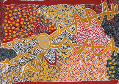 Minnie-Napanangka-(c1930-)-Wallaby-Dreaming,-1992-100-x-75cm