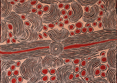 "Ningura Napurrula (c.1938-2013) ""Site Of Wirrulnga"" année 2005 -Sotheby's- 122x152cm Papunya Tula Artists"