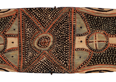 """Nym Bunduk """"Cosmos"""" 46x12cm c.1950  Arthur Beau Palmer Collection, NT and QLD,Collected in the field during Palmer's term, as Head of Land Claims NT from original MSC staff who had served at Port Keats Mission since founding in 1935. Private collection, Melbourne VENDU"""