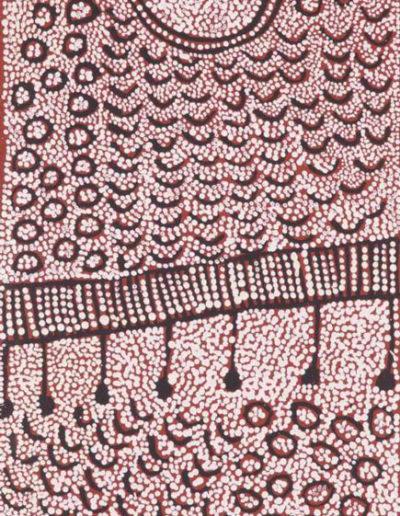 Yinarupa Nangala 28x87cm (Papunya Tula Artists) VENDU